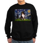 Starry Night / Sheltie (t) Sweatshirt (dark)