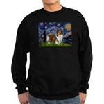 Starry / Sheltie (s&w) Sweatshirt (dark)