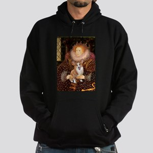 The Queen's Corgi Hoodie (dark)