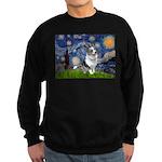 Starry Welsh Corgi (Bl.M) Sweatshirt (dark)