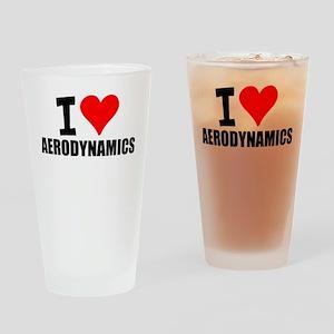 I Love Aerodynamics Drinking Glass