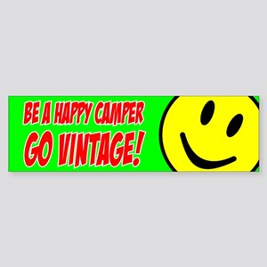 Smile - Happy Camper bumper sticker (green)