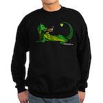 Flamin' Green Dragon Sweatshirt (dark)