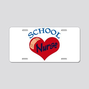 School Nurse Aluminum License Plate