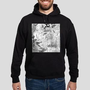 Night Meeting with Unicorn Hoodie (dark)
