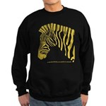 Grant's Zebra Portrait Sweatshirt (dark)