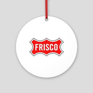 Frisco Railroad Round Ornament