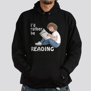 I'd Rather Be Reading Hoodie (dark)