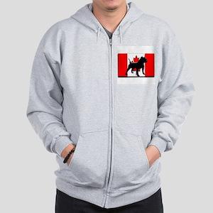 canadian pit bull design 2 Zip Hoodie