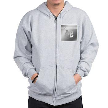 Silver (Ag) Zip Hoodie