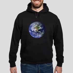 Western Earth from Space Hoodie (dark)