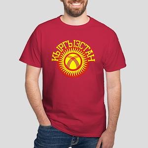 Kyrgyzstan Cyrillic Dark T-Shirt