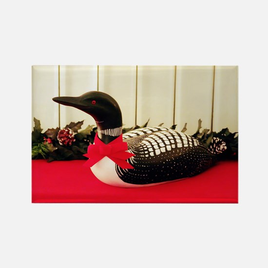 Holiday Loon Rectangle Magnet