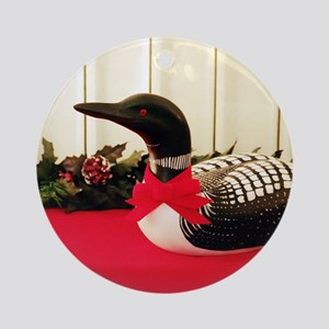 Holiday Loon Ornament (Round)