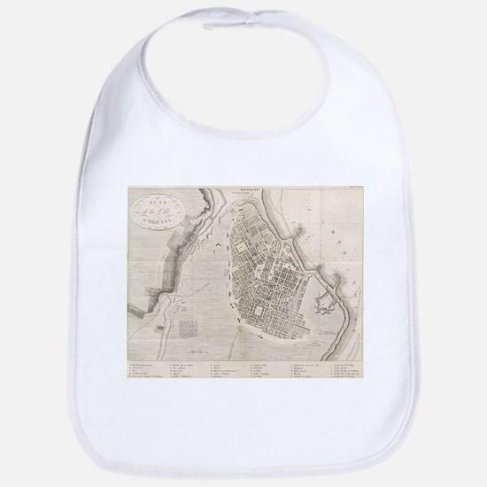 Vintage Map of Odessa Ukraine (1827) Baby Bib
