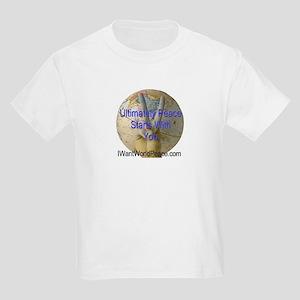 I Want World Peace Kids Light T-Shirt