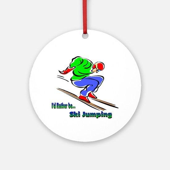 Ski Jumping Ornament (Round)