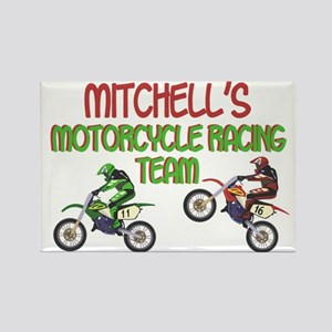 Mitchell's Motorcycle Racing Rectangle Magnet