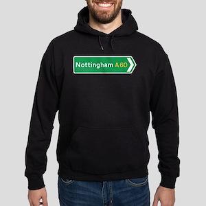 Nottingham Roadmarker, UK Hoodie (dark)