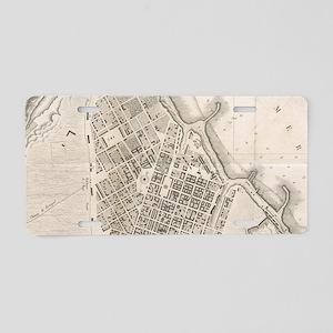 Vintage Map of Odessa Ukrai Aluminum License Plate