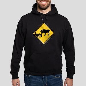 Beware of Moose, Canada Hoodie (dark)