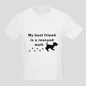 Best Friend Rescued Mutt Kids Light T-Shirt