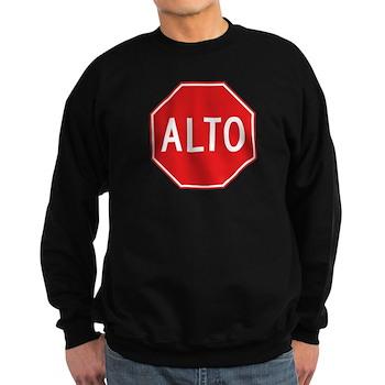 Stop, Mexico Sweatshirt (dark)