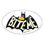 Bite Me Oval Sticker (50 pk)
