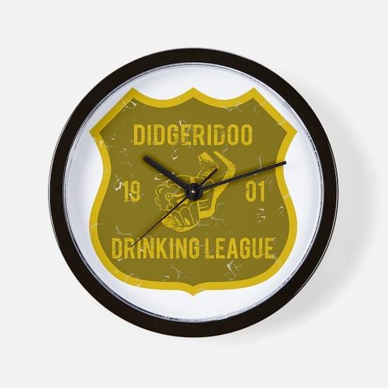 Didgeridoo Drinking League Wall Clock