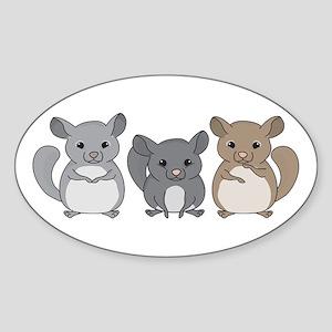 Chinchilla Oval Sticker