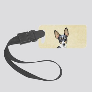 Fox Terrier (Toy) Small Luggage Tag