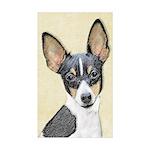 Fox Terrier (Toy) Sticker (Rectangle 50 pk)