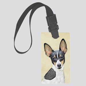 Fox Terrier (Toy) Large Luggage Tag
