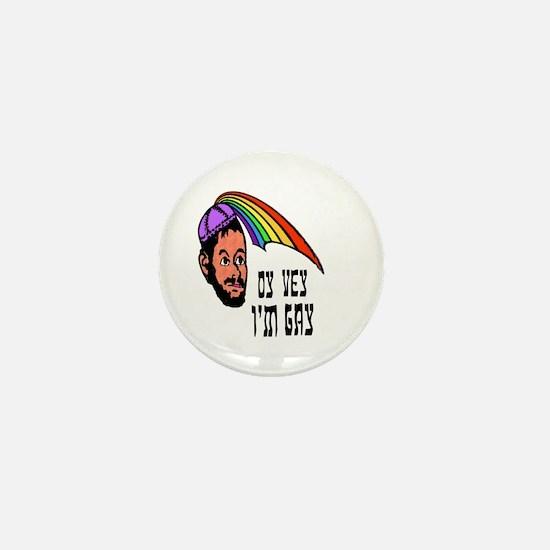 Oy Vey I'm Gay Mini Button