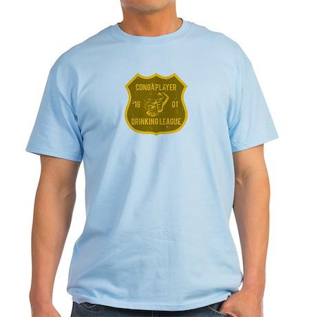 Conga Player Drinking League Light T-Shirt