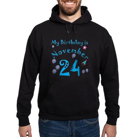November 24th Birthday Hoodie (dark)