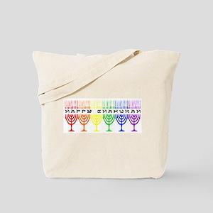 Rainbow Happy Chanukah Tote Bag