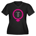 Time To Go To The Lab Women's Plus Size V-Neck Dar