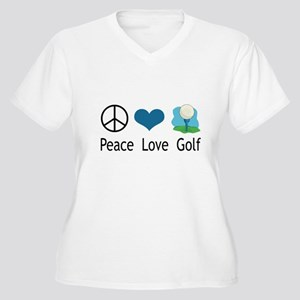 Peace Love Golf Women's Plus Size V-Neck T-Shirt