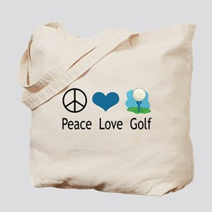 Peace Love Golf Tote Bag