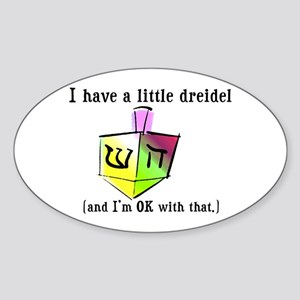 I Have a Little Dreidel Oval Sticker