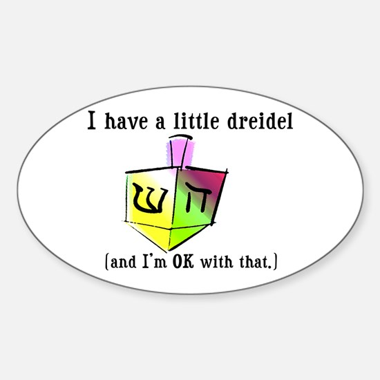 I Have a Little Dreidel Oval Decal