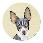 Fox Terrier (Toy) Round Car Magnet