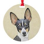 Fox Terrier (Toy) Round Ornament