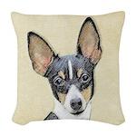 Fox Terrier (Toy) Woven Throw Pillow