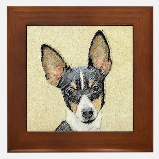 Fox Terrier (Toy) Framed Tile