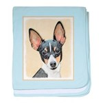 Fox Terrier (Toy) baby blanket