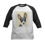Fox Terrier (Toy) Kids Baseball Jersey