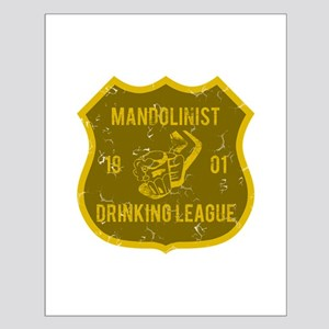 Mandolinist Drinking League Small Poster