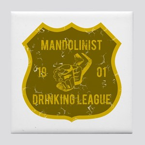 Mandolinist Drinking League Tile Coaster